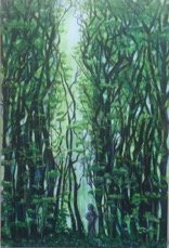 """Lost in the Woods"" 24""x36"" Acrylic on canvas"